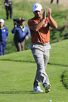 Francesco Molinari (Team Europe) walks onto the 9th green during Saturday's Foursomes Matches at the 2018 Ryder Cup 2018, Le Golf National, Ile-de-France, France. 29/09/2018.<br /> Picture Eoin Clarke / Golffile.ie<br /> <br /> All photo usage must carry mandatory copyright credit (&copy; Golffile | Eoin Clarke)