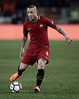 Calcio, Serie A: AS Roma - Torino Roma, stadio Olimpico, 9 marzo, 2018.<br /> Roma's Radja Nainggolan in action during the Italian Serie A football match between AS Roma and Torino at Rome's Olympic stadium, 9 marzo, 2018.<br /> UPDATE IMAGES PRESS/Isabella Bonotto
