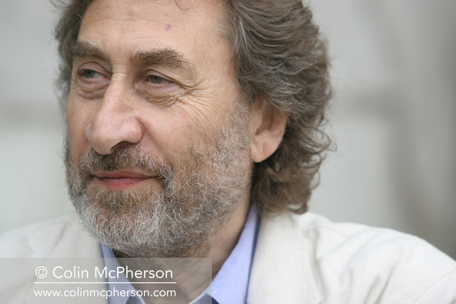 Popular British writer and columnist Howard Jacobson pictured at the Edinburgh International Book Festival where he talked about his latest novel on the subject of Jewish memory and the Holocaust.  The Book Festival was the World's largest literary event and featured writers from around the world. The 2006 event featured around 550 writers and ran from 13-28 August.