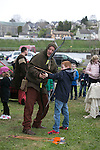 Harry Throwen from Ballina getting in some Archery in the Re-Enactment Camp at The Brian Boru Festival in Killaloe/Ballina during the Commemoration Weekend.<br /> Pictured Credit Brian Gavin Press 22