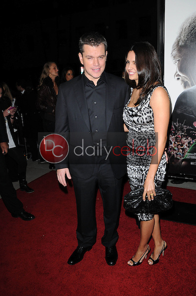 Matt Damon and wife Luciana Barroso<br />