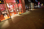 Sparkling lights in the sidewalk in front of Chi Chi La Rue's on Santa Monica Blvd, West Hollywood