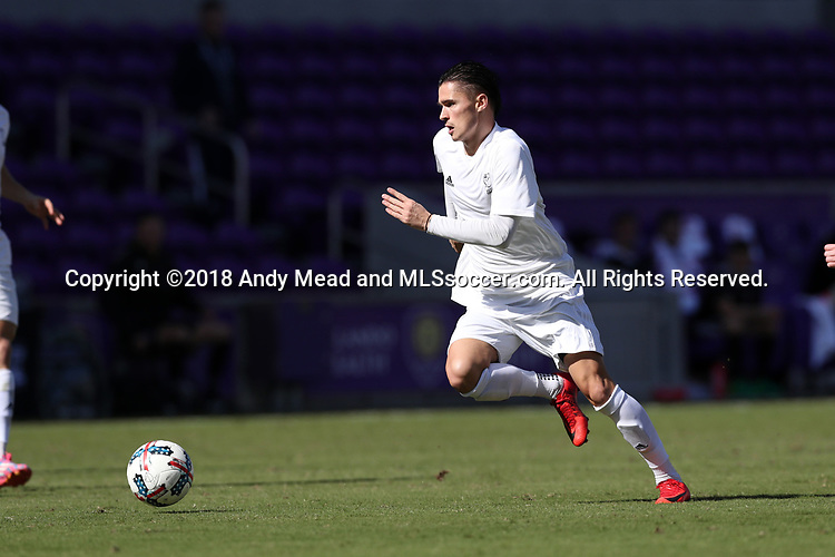 Orlando, Florida - Monday January 15, 2018: Paul Marie. Match Day 2 of the 2018 adidas MLS Player Combine was held Orlando City Stadium.