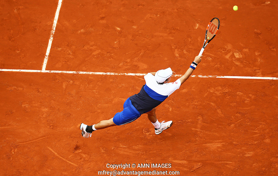 KEI NISHIKORI (JPN)<br /> <br /> Tennis - French Open 2015 -  Roland Garros - Paris -  ATP-WTA - ITF - 2015  - France <br /> <br /> &copy; AMN IMAGES