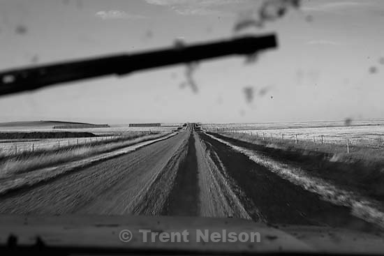 Driving through fields with Ross Robinson and Marshall Wilde.<br />