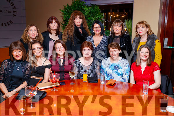 BorgWarner, Tralee, enjoying their Christmas party at Benners Hotel, Tralee on Saturday night last were front l-r: Lucy Silles, Sarah Shanahan, Nicola Mullins, Anita Costello, Mary Flahive and Anne Marie Kenny. Back l-r: Helen Corrigan, Joan O'Regan, Mary Quinlivan, Marian O'Connor, Jane Lynch and Margaret Hartman.