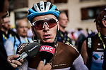 Romain Bardet (FRA) AG2R La Mondiale finishes in 2nd place at the end of Stage 18 of the 2019 Tour de France running 208km from Embrun to Valloire, France. 25th July 2019.<br /> Picture: ASO/Pauline Ballet | Cyclefile<br /> All photos usage must carry mandatory copyright credit (© Cyclefile | ASO/Pauline Ballet)