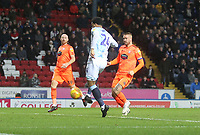 Blackburn Rovers Joe Nuttall scores his sides second goal <br /> <br /> Photographer Mick Walker/CameraSport<br /> <br /> The EFL Sky Bet Championship - Blackburn Rovers v Ipswich Town - Saturday 19 January 2019 - Ewood Park - Blackburn<br /> <br /> World Copyright &copy; 2019 CameraSport. All rights reserved. 43 Linden Ave. Countesthorpe. Leicester. England. LE8 5PG - Tel: +44 (0) 116 277 4147 - admin@camerasport.com - www.camerasport.com