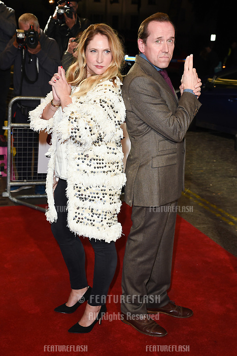 """LONDON, UK. October 03, 2018: Ben Miller & Jessica Parker at the premiere of """"Johnny English Strikes Again"""" at the Curzon Mayfair, London.<br /> Picture: Steve Vas/Featureflash"""