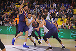 League ACB-ENDESA 2017/2018 - Game: 27.<br /> FC Barcelona Lassa vs Real Betis Energia Plus: 121-56.<br /> Pierre Oriola, Askia Booker &amp; Juan Carlos Navarro.