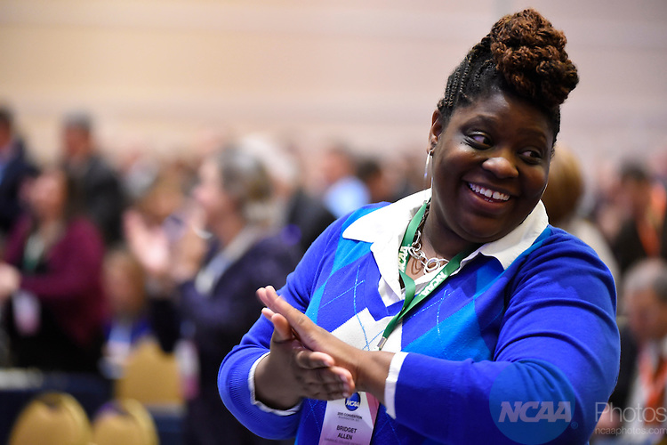 15 JAN 2015:  The NCAA Division II Issues Forum and Keynote Speaker take place during the 2015 NCAA Convention held at the Gaylord National Resort and Convention Center in National Harbor, MD.  Jamie Schwaberow/NCAA Photos