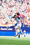 """Atletico de Madrid's player Gabriel """"Gabi"""" Fernández and Deportivo de la Coruña's player Emre during a match of La Liga Santander at Vicente Calderon Stadium in Madrid. September 25, Spain. 2016. (ALTERPHOTOS/BorjaB.Hojas)"""