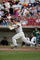 August 15 2008:  First baseman Gabe Jacobo (16) of the Cedar Rapids Kernels, Class-A affiliate of the Los Angeles Angels of Anaheim, during a game at Philip B. Elfstrom Stadium in Geneva, IL.  Photo by:  Mike Janes/Four Seam Images