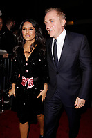 LONDON, ENGLAND - FEBRUARY 09 :  Salma Hayek and Francois-Henri Pinault arrive at the Charles Finch and Chanel pre-BAFTA party at Loulou's on February 09, 2019 in London, England.<br /> CAP/AH<br /> &copy;Adam Houghton/Capital Pictures