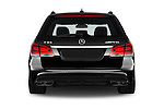 Straight rear view of a 2015 Mercedes Benz E Class E63 AMG S 5 Door Wagon Rear View  stock images