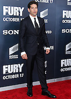 WASHINGTON, DC, USA - OCTOBER 15: Jon Bernthal arrives at the Washington DC Premiere Of Sony Pictures' 'Fury' held at The Newseum on October 15, 2014 in Washington, DC, United States. (Photo by Jeffery Duran/Celebrity Monitor)