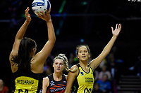 Pulse&rsquo; Aliyah Dunn in action during the ANZ Premiership - Pulse v Tactix at TSB Arena, Wellington, New Zealand on Monday 14 May 2018.<br /> Photo by Masanori Udagawa. <br /> www.photowellington.photoshelter.com