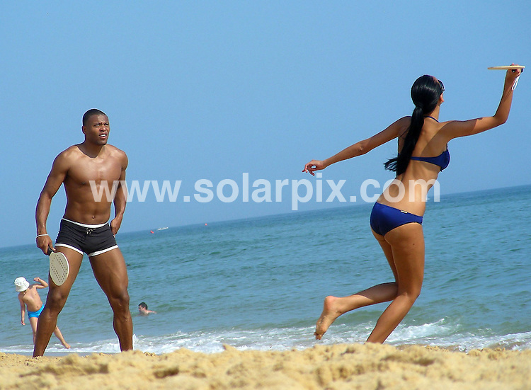 **ALL ROUND PICTURES FROM SOLARPIX.COM**.**WORDLWIDE SYNDICATION RIGHTS EXCEPT FOR SPAIN** NO PUBLICATION IN SPAIN**.Footballer Julio Baptista, AKA the Beast, currently at Spanish club Real Madrid, enjoying time on the beach with his Spanish girlfriend in the Algarve, Portugal. 15th July 2008..This pic: Julio Baptista..JOB REF: 6838 PTB        DATE: 15_07_2008.**MUST CREDIT SOLARPIX.COM / POOL PRESS OR DOUBLE FEE WILL BE CHARGED* *UNDER NO CIRCUMSTANCES IS THIS IMAGE TO BE REPRODUCED FOR ANY ONLINE EDITION WITHOUT PRIOR PERMISSION*