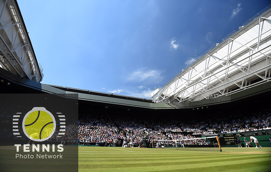Wimbledon, 4/07/2014<br /> <br /> Semifinal Djokovic-Dimitrov<br /> <br /> © Ray Giubilo/ Tennis Photo Network