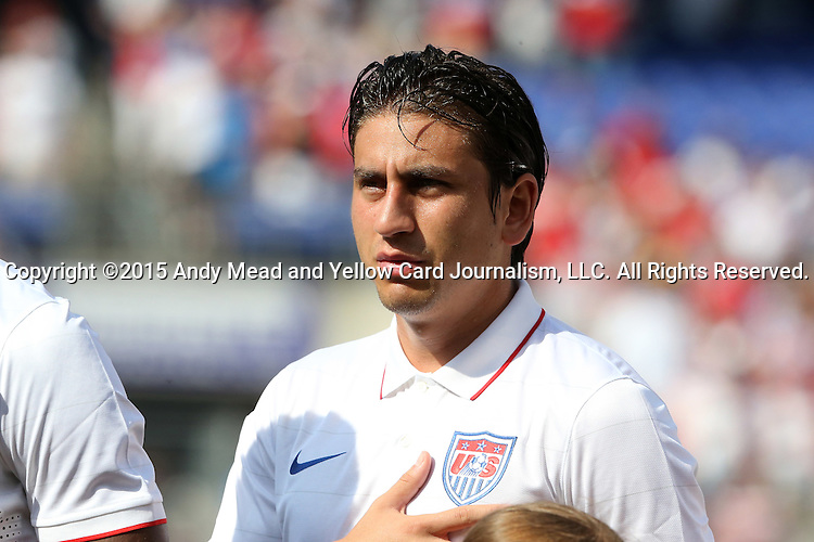 18 July 2015: Alejandro Bedoya (USA). The United States Men's National Team played the Cuba Men's National Team at M&T Bank Stadium in Baltimore, Maryland in a 2015 CONCACAF Gold Cup quarterfinal match. The U.S. won the game 6-0.