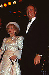 Bette Davis and Clint Eastwood attend Sixth Annual American Cinema Awards on January 6, 1989 at the Beverly Hilton Hotel in Beverly Hills, California.
