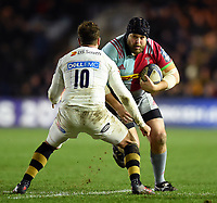 Mark Lambert of Harlequins in possession. European Rugby Champions Cup match, between Harlequins and Wasps on January 13, 2018 at the Twickenham Stoop in London, England. Photo by: Patrick Khachfe / JMP