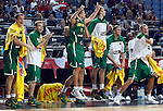 Lithuania players celebrates during the 3rd Place World championship basketball match against Serbia in Istanbul, Serbia-Lithuania, Turkey on Sunday, Sep. 12, 2010. (Novak Djurovic/Starsportphoto.com) .