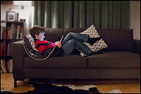 BNPS.co.uk (01202 558833)<br /> Pic: LisaSutt/BNPS<br /> <br /> ***Please use full byline***<br /> <br /> Technology obsessed people who are glued to their smartphones and tablets can now take them to bed, thanks to a new pillow which can charge any gadgets.<br /> <br /> The cushion can charge two gadgets at the same time which are connected by simply plugging the lead in via a USB port in the side.<br /> <br /> The Power Pillow could be a solution for those who like to watch films, check emails, or read eBooks while they are in bed even when their equipment is running low.<br /> <br /> The clever device comes with two batteries so that when one has ran out and needs to be plugged in, they can easily be swapped over.<br /> <br /> The Power Pillow was thought up by Geoff Martin, from Nova Scotia in Canada who was on the phone to his brother in bed when he had the idea.