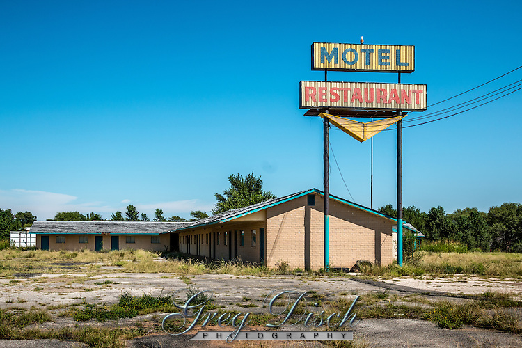 Closed and abandoned motel on Route 66 in McLean Texas.