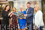 Expo organisers present jobs info to Minister for Jobs Enterprise and Innovation, Mary Mitchell-O'Connor, TD when she visited Tralee on Friday. Pictured Liz Maher, Kerry Business Women's Network,  Fred McDonogh, RED Chair Recuitment, Elin Sorensen, GHQ Design Hits, Lisa O Carroll,  Kerry Local Enterprise Office