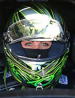 Feb 4, 2016; Chandler, AZ, USA; NHRA funny car driver Alexis DeJoria during pre season testing at Wild Horse Pass Motorsports Park. Mandatory Credit: Mark J. Rebilas-USA TODAY Sports