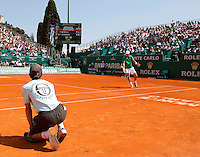 Tomas BERDYCH (CZE) against Fernando VERDASCO (ESP) in the third round. Fernando Verdasco beat Tomas Berdych 5-7 6-3 6-2..International Tennis - 2010 ATP World Tour - Masters 1000 - Monte-Carlo Rolex Masters - Monte-Carlo Country Club - Alpes-Maritimes - France..© AMN Images, Barry House, 20-22 Worple Road, London, SW19 4DH.Tel -  + 44 20 8947 0100.Fax - + 44 20 8947 0117