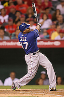 08/16/11 Anaheim, CA: Texas Rangers right fielder Nelson Cruz #17 during an MLB game played between the Texas Rangers and the Los Angeles Angels at Angel Stadium. The Rangers defeated the Angels 7-3.