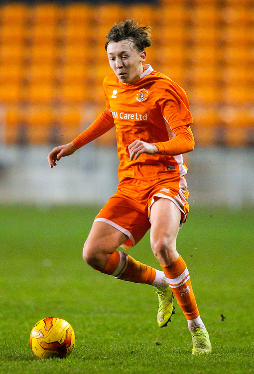 Blackpool's Nathan Shaw<br /> <br /> Photographer Alex Dodd/CameraSport<br /> <br /> The FA Youth Cup Third Round - Blackpool U18 v Derby County U18 - Tuesday 4th December 2018 - Bloomfield Road - Blackpool<br />  <br /> World Copyright © 2018 CameraSport. All rights reserved. 43 Linden Ave. Countesthorpe. Leicester. England. LE8 5PG - Tel: +44 (0) 116 277 4147 - admin@camerasport.com - www.camerasport.com