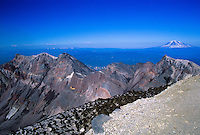 Mt. Adams from the Summit of Mt. St. Helens, Mt. St. Helens National Volcanic Monument, Washington, US