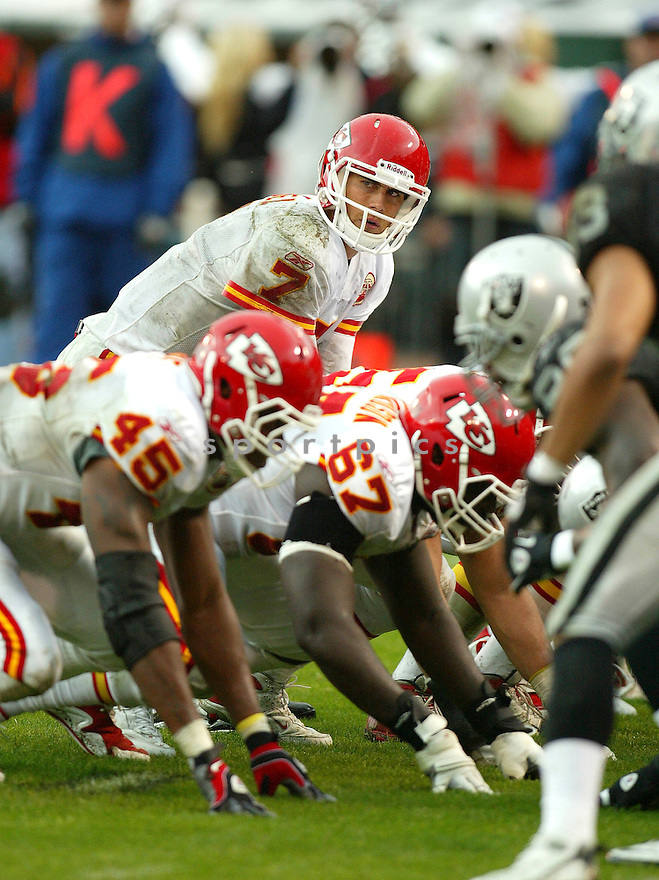 MATT CASSEL, of the Kansas City Chiefs, in action during the Chiefs game against the Oakland Raiders on November 7, 2010 at Oakland-Alameda County Coliseum in Oakland, California. .Raiders beat the Chiefs 23-20 in overtime....SportPics