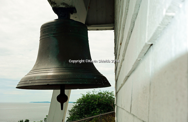 Bell at Fort Point Light, Stockton Springs, Maine, USA