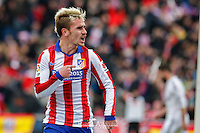 Atletico de Madrid´s french forward Antoine Griezmann celebrating a goal