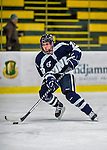 2 February 2013: University of New Hampshire Wildcat forward Hannah Armstrong, a Junior from Newmarket, Ontario, in action against the University of Vermont Catamounts at Gutterson Fieldhouse in Burlington, Vermont. The Lady Wildcats defeated the Lady Catamounts 4-2 in Hockey East play. Mandatory Credit: Ed Wolfstein Photo