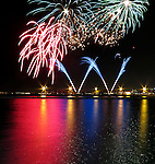 Chicago scenes:  Labor Day fireworks over the Navy Pier, Streeterville neighborhood in Chicago, Il. (Photo by Jamie Moncrief)