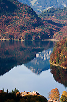 Alpsee and autumn forests, Hohenschwangau, Bavaria, Germany
