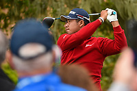 Hideki Matsuyama (JPN) watches his tee shot on 2 during round 1 of the 2019 US Open, Pebble Beach Golf Links, Monterrey, California, USA. 6/13/2019.<br /> Picture: Golffile | Ken Murray<br /> <br /> All photo usage must carry mandatory copyright credit (© Golffile | Ken Murray)
