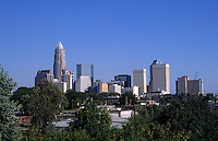 Skyline of downtown Charlotte, North Carolina, USA