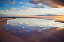 Australia, South Australia; flooded salt lake