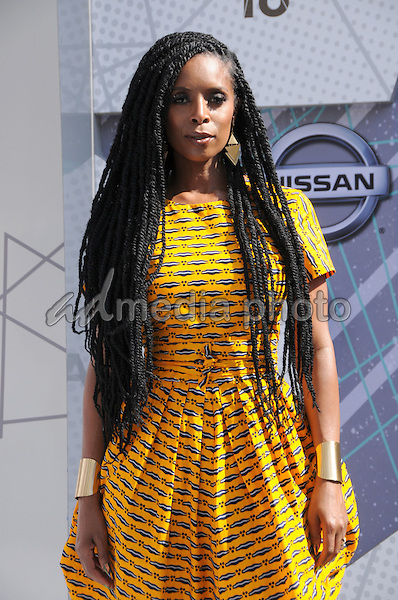 26 June 2016 - Los Angeles. Tasha Smith. Arrivals for the 2016 BET Awards held at the Microsoft Theater. Photo Credit: Birdie Thompson/AdMedia