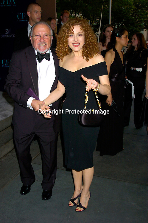 Bernadette Peters and Stan Herman ..at the  2004 CFDA Fashion Awards on June 7, 2004 at ..The New York Public Library.                                           Photo by Robin Platzer, Twin Images