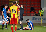 Lee Wallace goes down injured