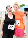 Mags Philips and Mary Carr who ran the Newtown Blues 12.5K run. Photo:Colin Bell/pressphotos.ie