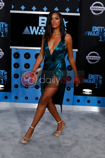 Claudia Jordan<br /> at the BET Awards 2017, Microsoft Theater, Los Angeles, CA 06-25-17<br /> David Edwards/DailyCeleb.com 818-249-4998