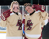 Molly Slowe (BC - 14), Kenzie Kent (BC - 12) - The Boston College Eagles practiced at Fenway on Monday, January 9, 2017, in Boston, Massachusetts.